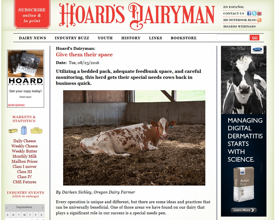 Hoard's Dairyman – Give Them Space