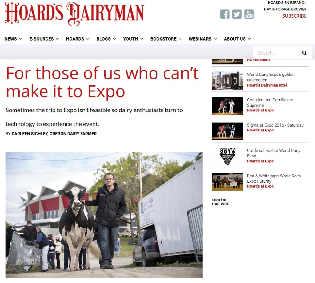 Hoard's Dairyman – Can't Make it to Expo
