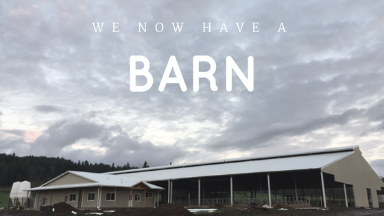 We Now Have a Barn