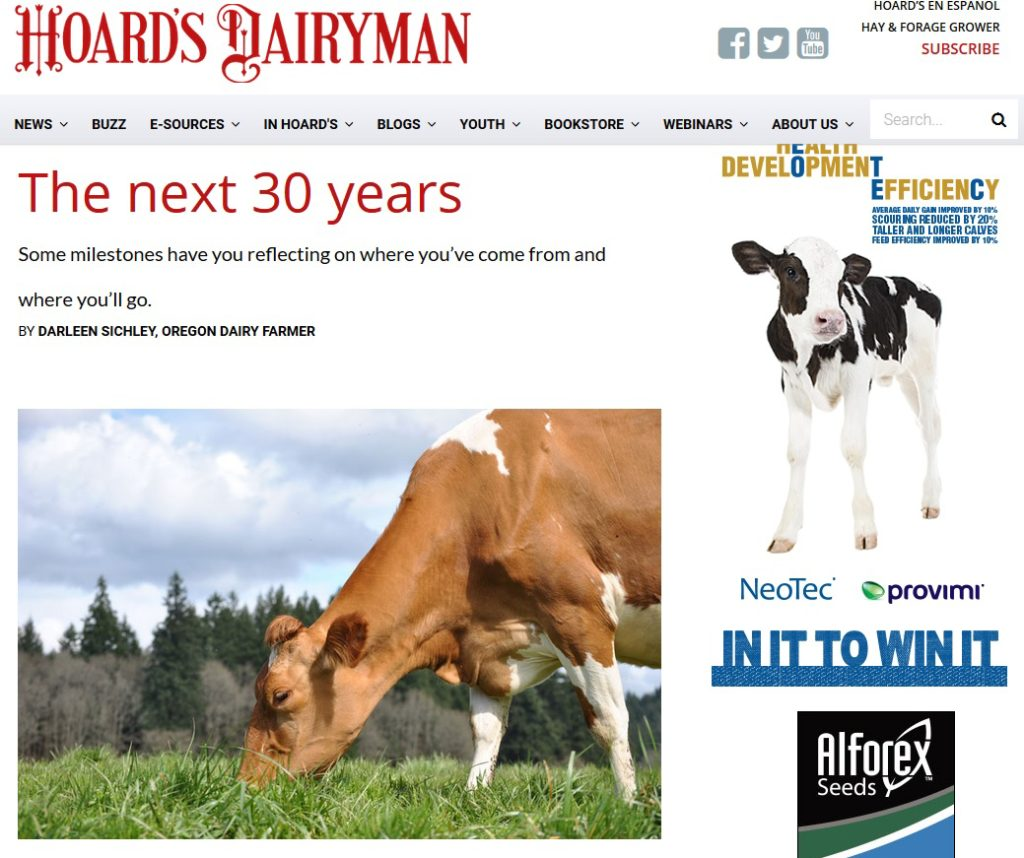 Hoard's Dairyman - Next 30 Years