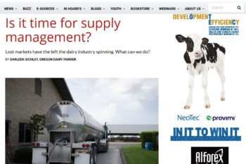 Hoard's Dairyman – Supply Management