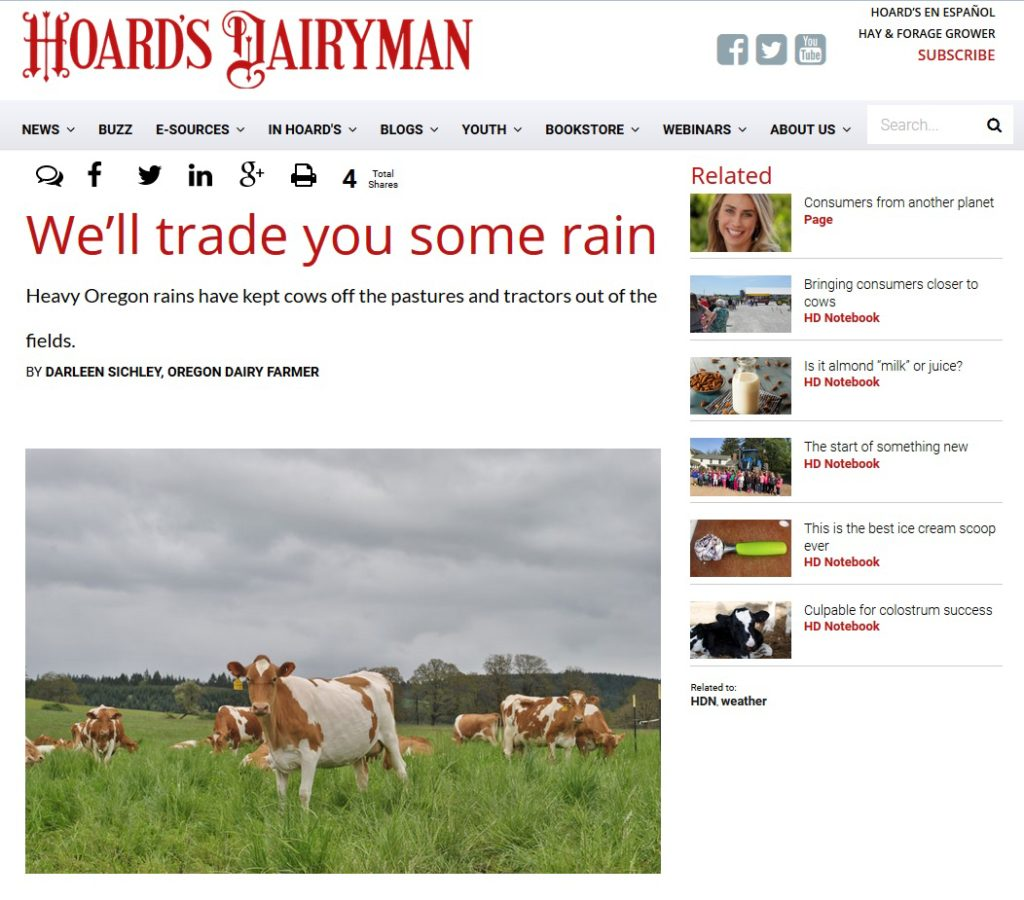 Hoard's Dairyman - Trade you Rain