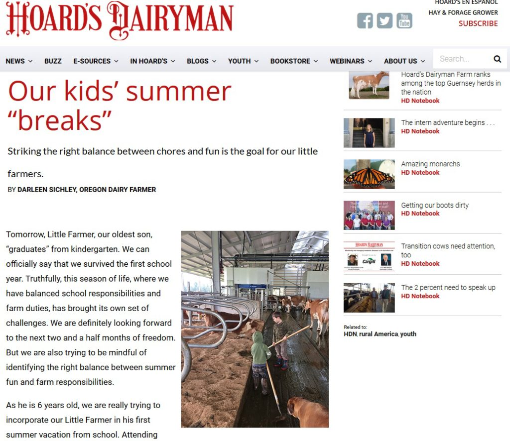 Hoard's Dairyman - Our Kid's Summer