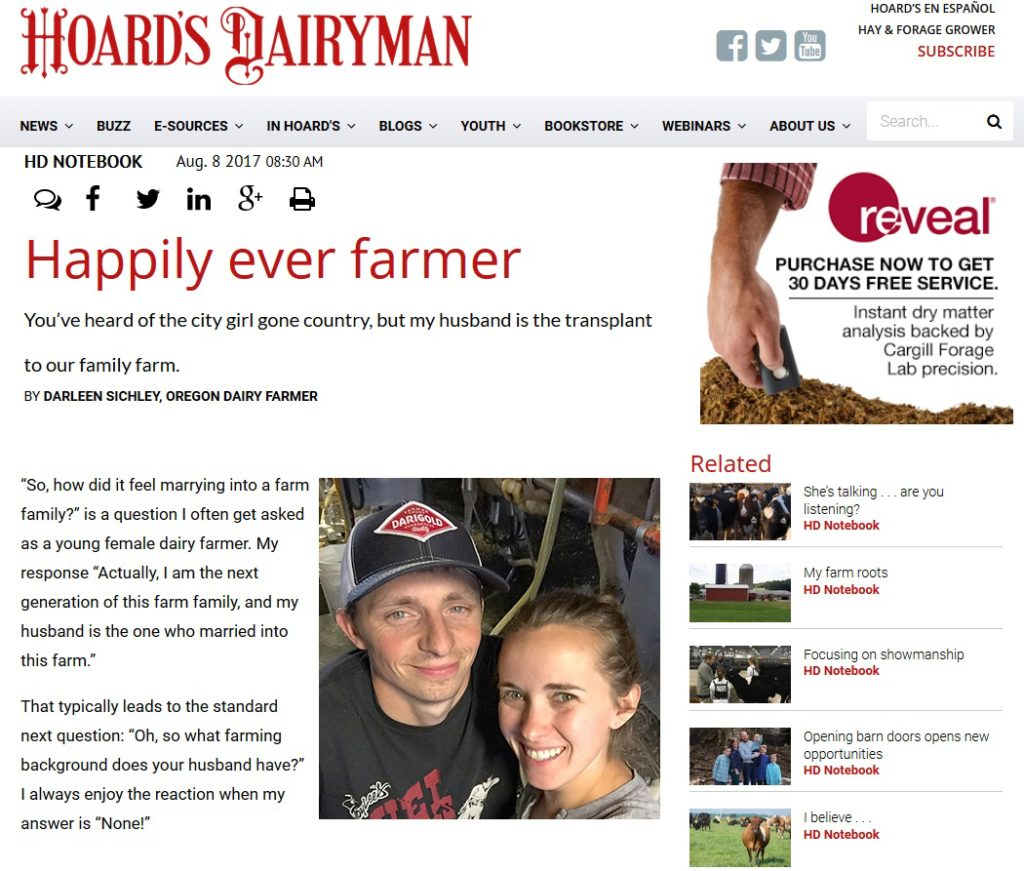 Hoard's Dairyman - Happily Ever Farmer